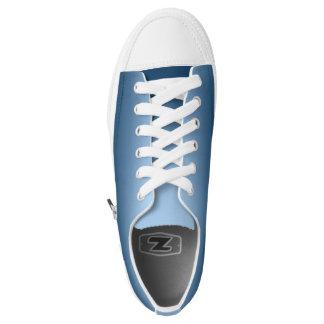 One Color Plain Gradient Blue Low-Top Sneakers