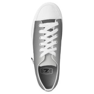 One Color Plain Gradient Grey Low-Top Sneakers