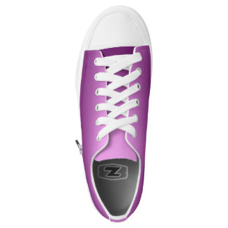 One Color Plain Gradient Pink Low-Top Sneakers