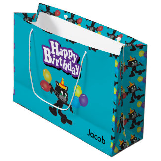 One Cool Cat Birthday Balloons Large Gift Bag