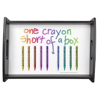 ONE CRAYON SHORT OF A BOX SERVING PLATTERS