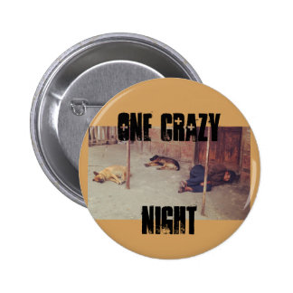 One Crazy Night Pin (Man and Dogs on Ground)