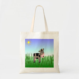 One Cute Chocolate Cow Designer Tote Bag