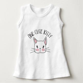 One Cute Kitty Baby Dress