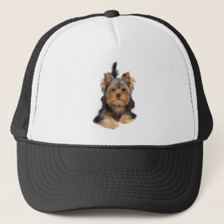 One cute puppy trucker hat