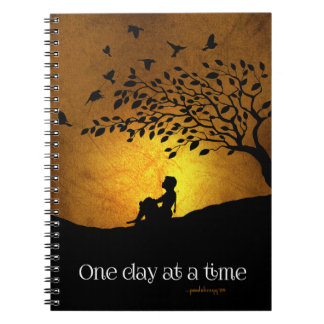 One Day at a Time (12 Step Recovery Female) Note Book