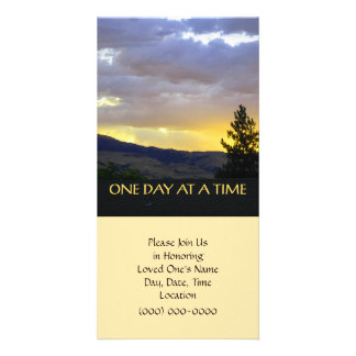 One Day at a Time Customized Photo Card
