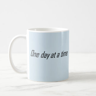 One day at a time encouraging coffee mug