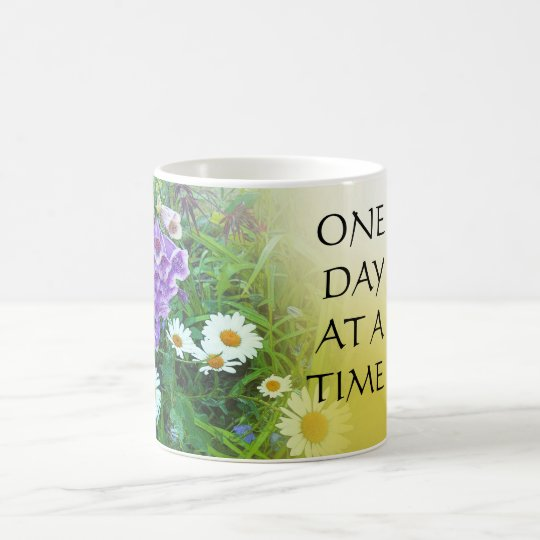 One Day at a Time Flower Garden Coffee Mug