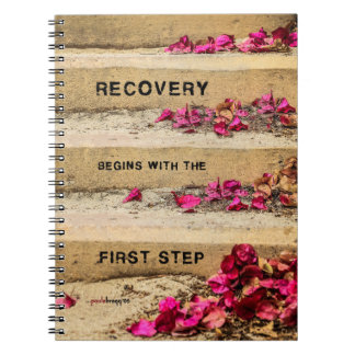 One Day at a Time (Flowers on Steps / Recovery) Spiral Notebook