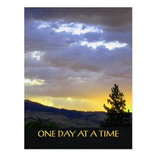 One Day at a Time July Sky Postcard
