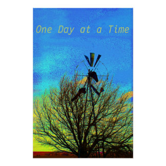 One Day at a Time  Motivational Poster