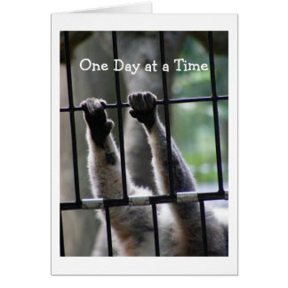 """""""One Day at a Time"""", Motivational Quote Greeting Card"""