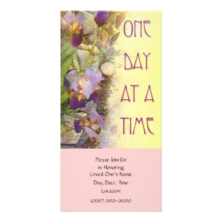One Day at a Time (ODAT) Irises Customized Photo Card