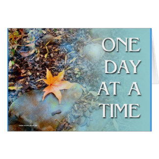 One Day at a Time ODAT Maple Leaf Card