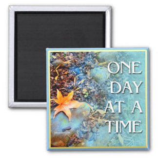 One Day at a Time (ODAT) Orange Leaf Magnet