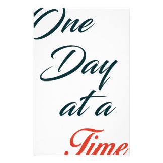 One Day at a time Personalized Stationery