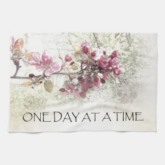 One Day at a Time Pink Blossoms Kitchen Towel
