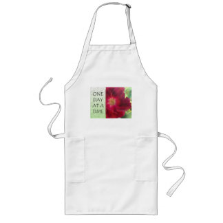 One Day at a Time Red Rose Long Apron