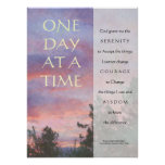 One Day at a Time Serenity Prayer Poster Print