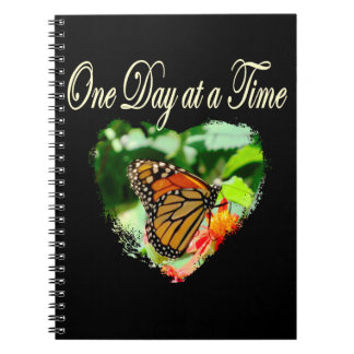 ONE DAY AT A TIME SPIRAL NOTEBOOKS