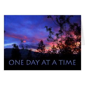 One Day at a Time Spring Sunrise Card