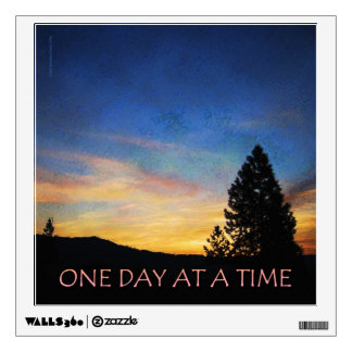 One Day at a Time Sunrise Wall Decal