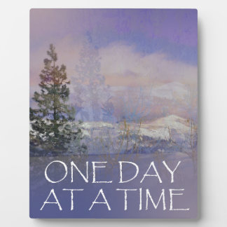 One Day at a Time Trees Hills Snow Plaque