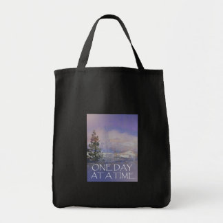One Day at a Time Trees Hills Snow Tote Bag