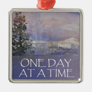 One Day at a Time Tres Hills Snow Metal Ornament