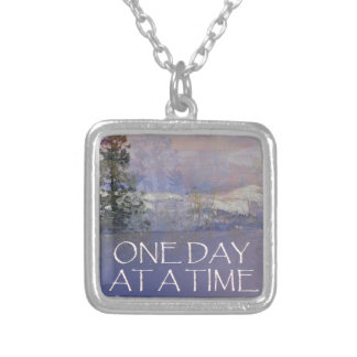One Day at a Time Tres Hills Snow Silver Plated Necklace