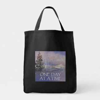 One Day at a Time Tres Hills Snow Tote Bag