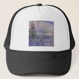 One Day at a Time Tres Hills Snow Trucker Hat
