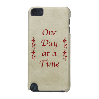 One Day at a Time-Vintage with Red Floral Accents iPod Touch 5G Case