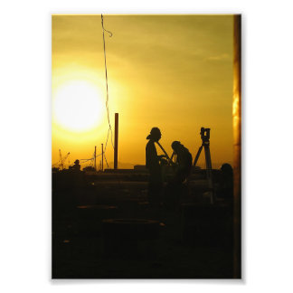 one day at piling area photo print