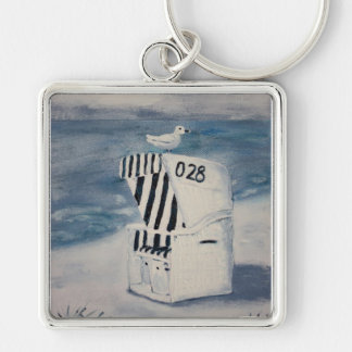One day at the sea keychain