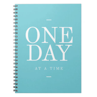 One Day - Goals Inspirational Quotes Teal Journal
