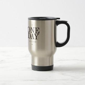 One Day Inspiring Quote White Black Gifts Travel Mug