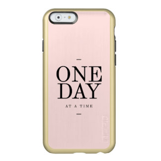 One Day Motivational  Goals Quote Blush Pink Gift Incipio Feather® Shine iPhone 6 Case