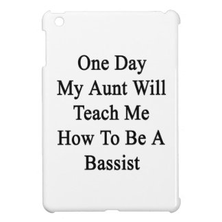 One Day My Aunt Will Teach Me How To Be A Bassist. iPad Mini Cover
