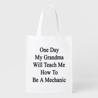 One Day My Grandma Will Teach Me How To Be A Mecha Market Totes