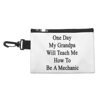 One Day My Grandpa Will Teach Me How To Be A Mecha Accessories Bag