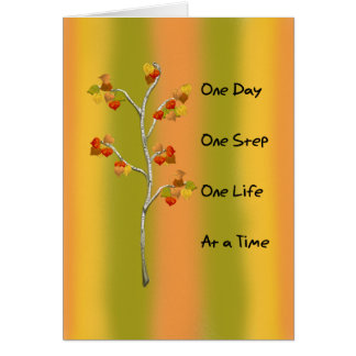 One Day One Step Greeting Cards