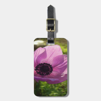 One Delicate Purple Anemone Coronaria Flower Luggage Tag