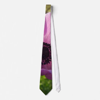 One Delicate Purple Anemone Coronaria Flower Tie