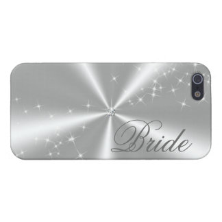 ONE DIAMOND ON SILVER SATIN iPhone 5/5S CASE