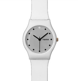 ONE DOT PLUS  | white and grey customisable Wristwatch