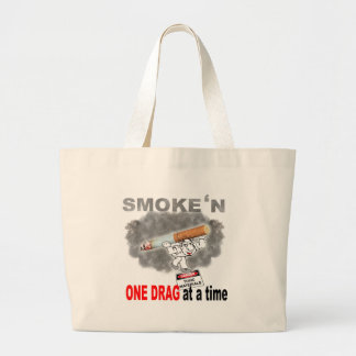 ONE DRAG AT ATIME_1 LARGE TOTE BAG