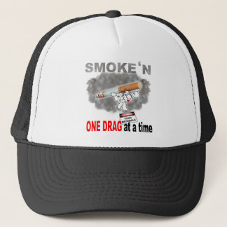 ONE DRAG AT ATIME_1 TRUCKER HAT