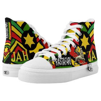 One Drop Reggae Rasta HIgh Top Sneakers